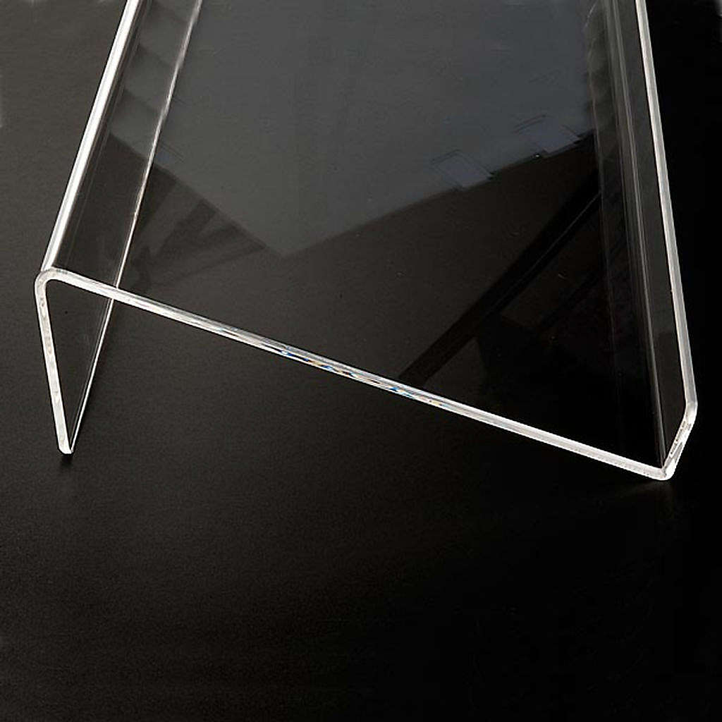 Book stand in plexiglass, 5mm rounded 4