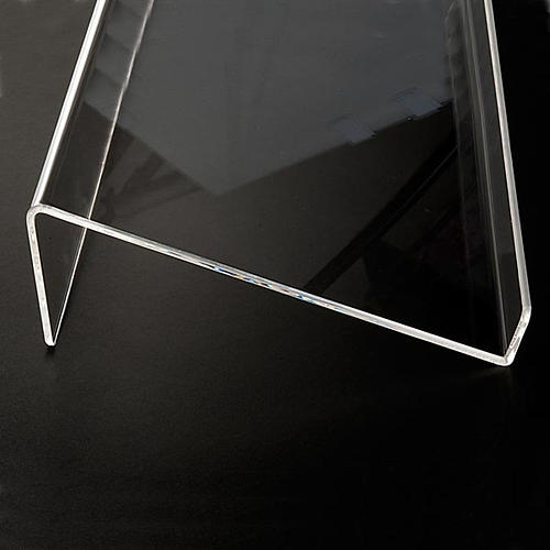 Book stand in plexiglass, 5mm rounded 5
