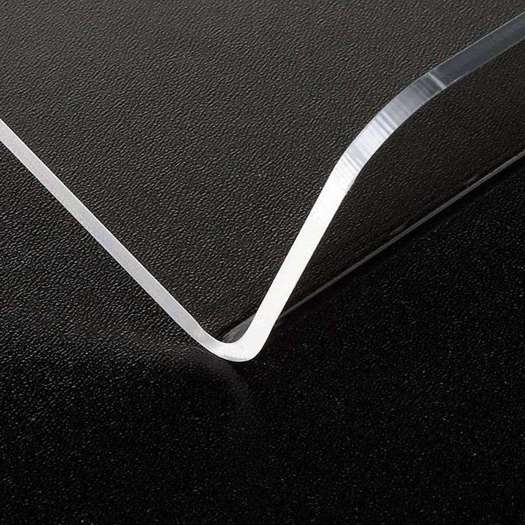 Leggio plexiglass mm 3 stondato 4