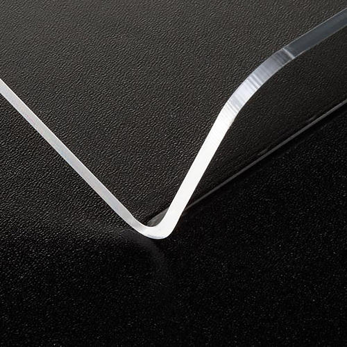 Book stand in plexiglass, 3mm rounded 2