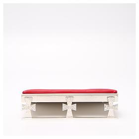 Atril de mesa plateado símil cuero rojo s1
