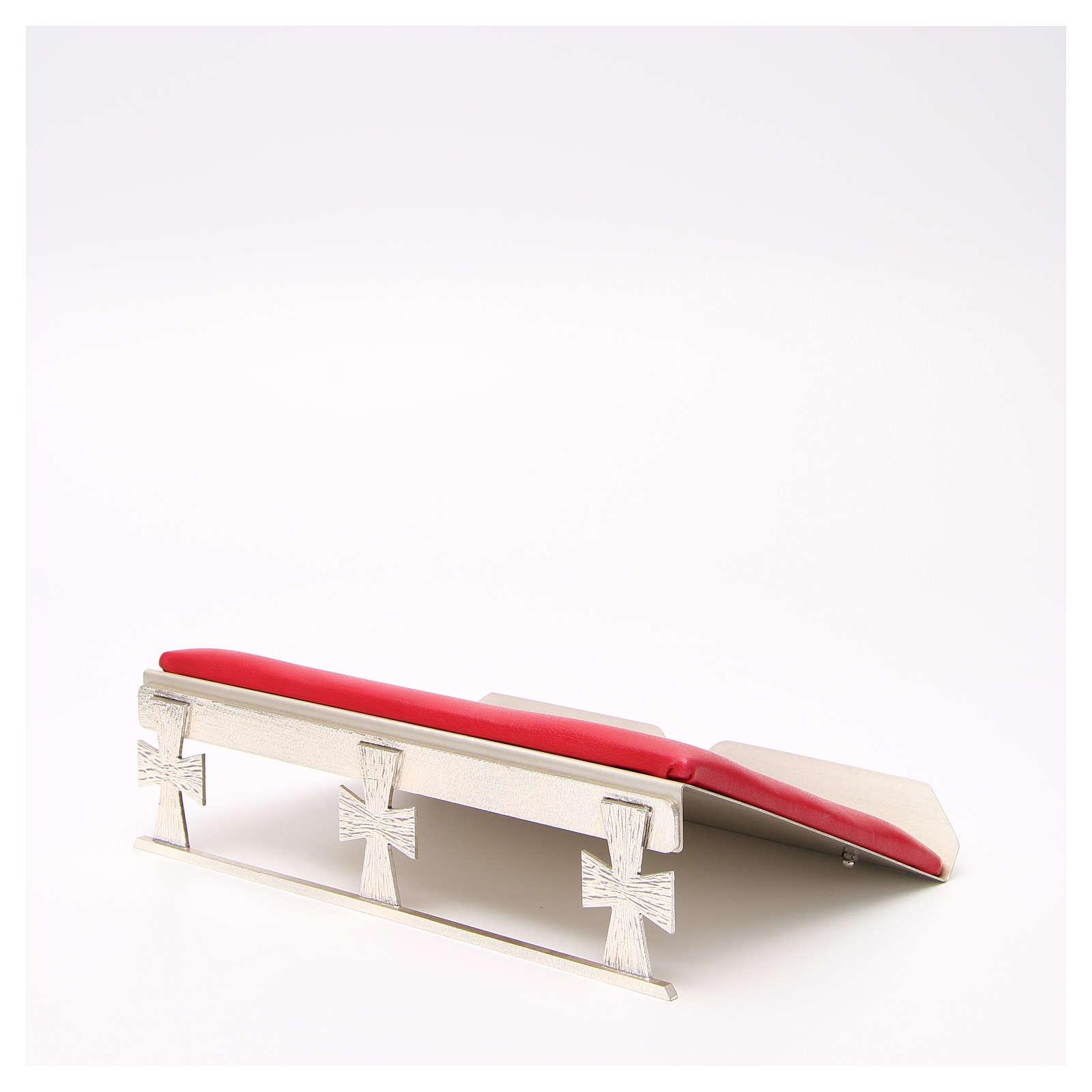 Leggio argentato con cuscinetto rosso 4