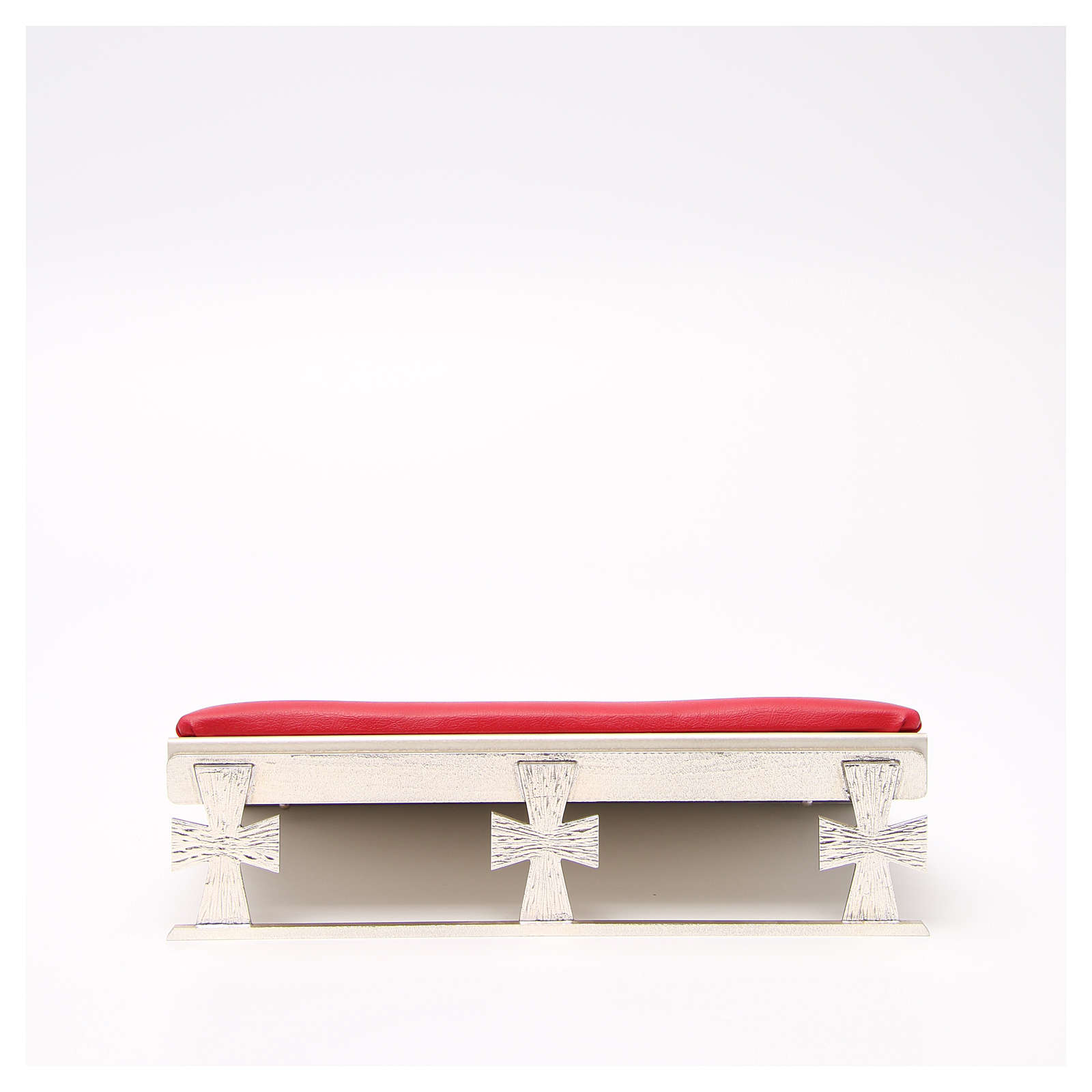 Silver-plated book stand with red cushion 4