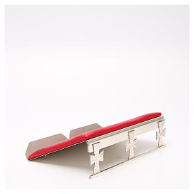 Silver-plated book stand with red cushion s4