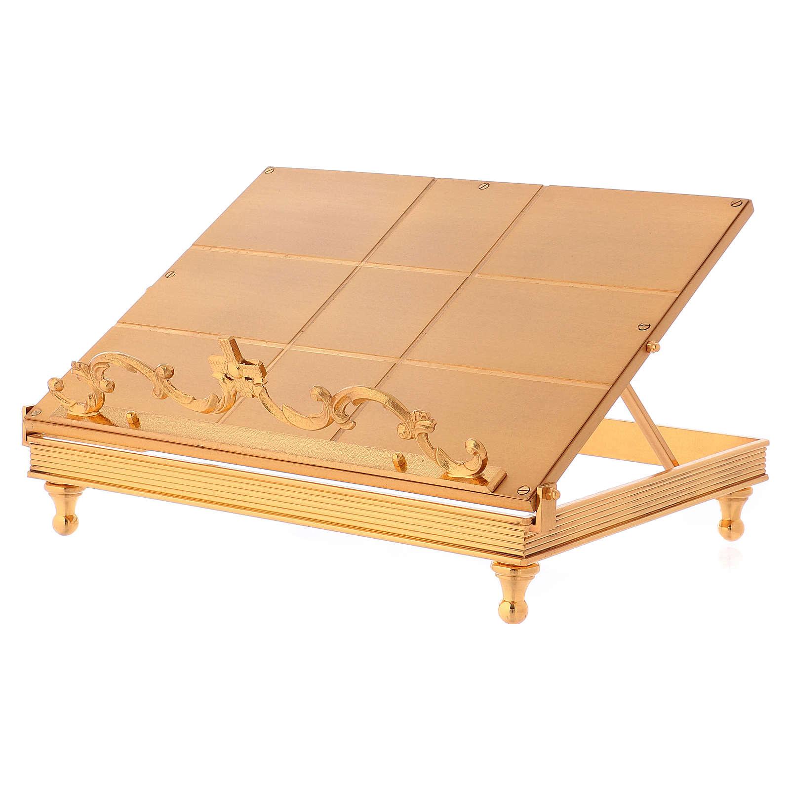 Leggio ottone dorato croce 4