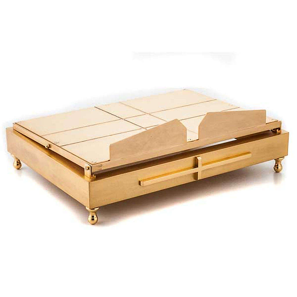 Leggio da tavolo in ottone dorato 4