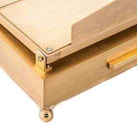 Leggio da tavolo in ottone dorato s3