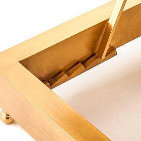 Leggio da tavolo in ottone dorato s4