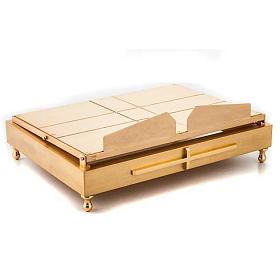 Leggio da tavolo in ottone dorato s5