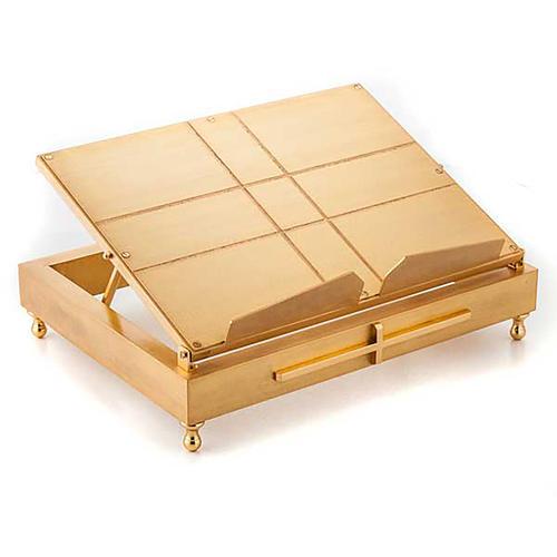Leggio da tavolo in ottone dorato 1