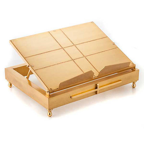 Gold-plated brass book stand 1