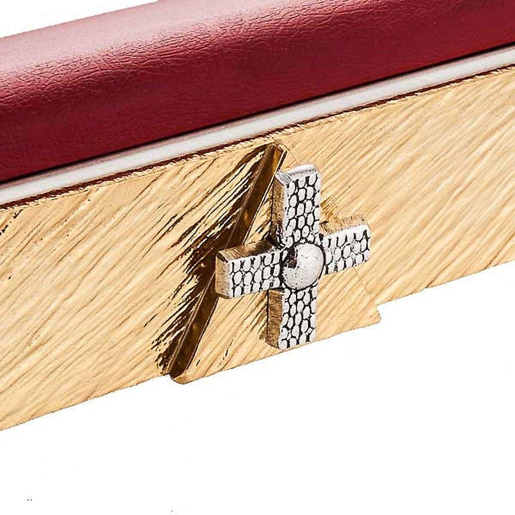 Atril de mesa latón cruces 4
