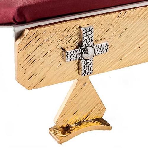 Leggio da tavolo cuscinetto ottone croci 4