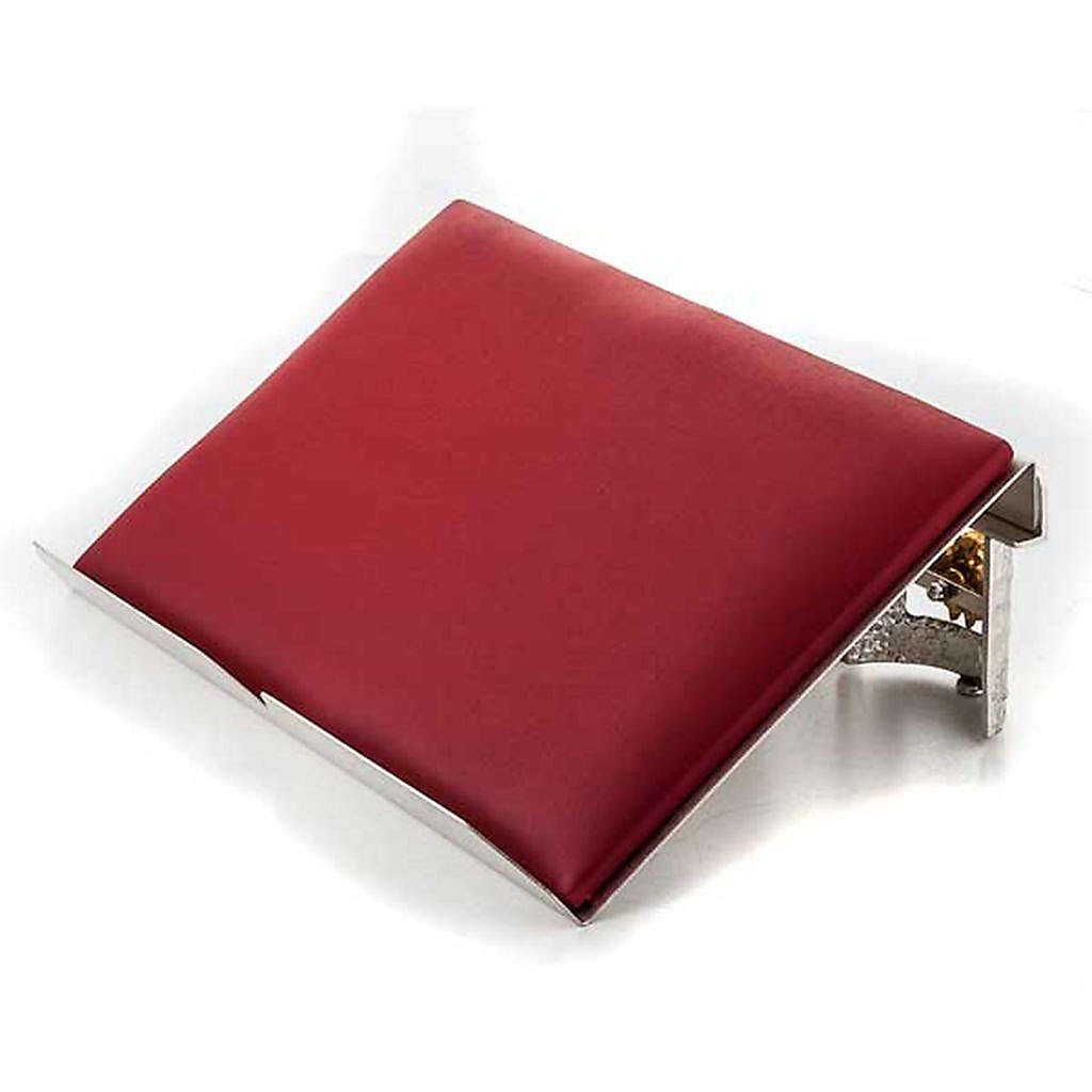 Golden and silver brass book stand with cushion 4