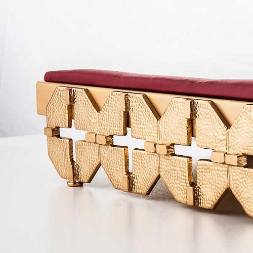 Leggio da mensa cuscinetto ottone dorato croci 2