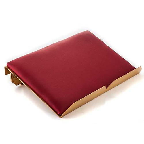 Leggio da mensa cuscinetto ottone dorato croci 3