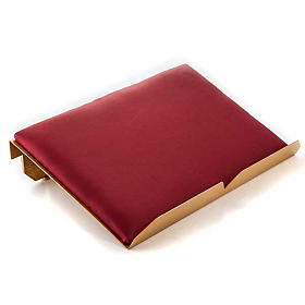 Book stand with cushion and cross golden and silver brass s3