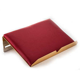Book stand with cushion in brass with cross s3