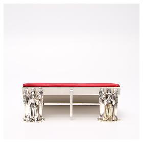 Pupitres de lecture: Pupitre d'autel laiton argenté anges