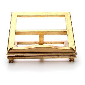 Estante de mesa madeira folha ouro s5