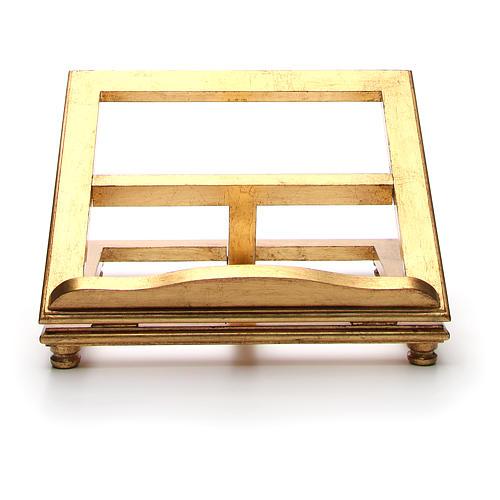 Estante de mesa madeira folha ouro 5