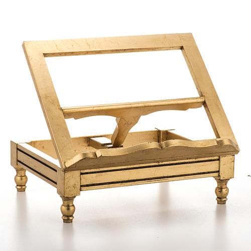 Atril de mesa hoja de oro 1