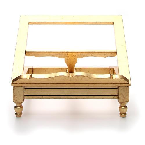 Atril de mesa hoja de oro 6