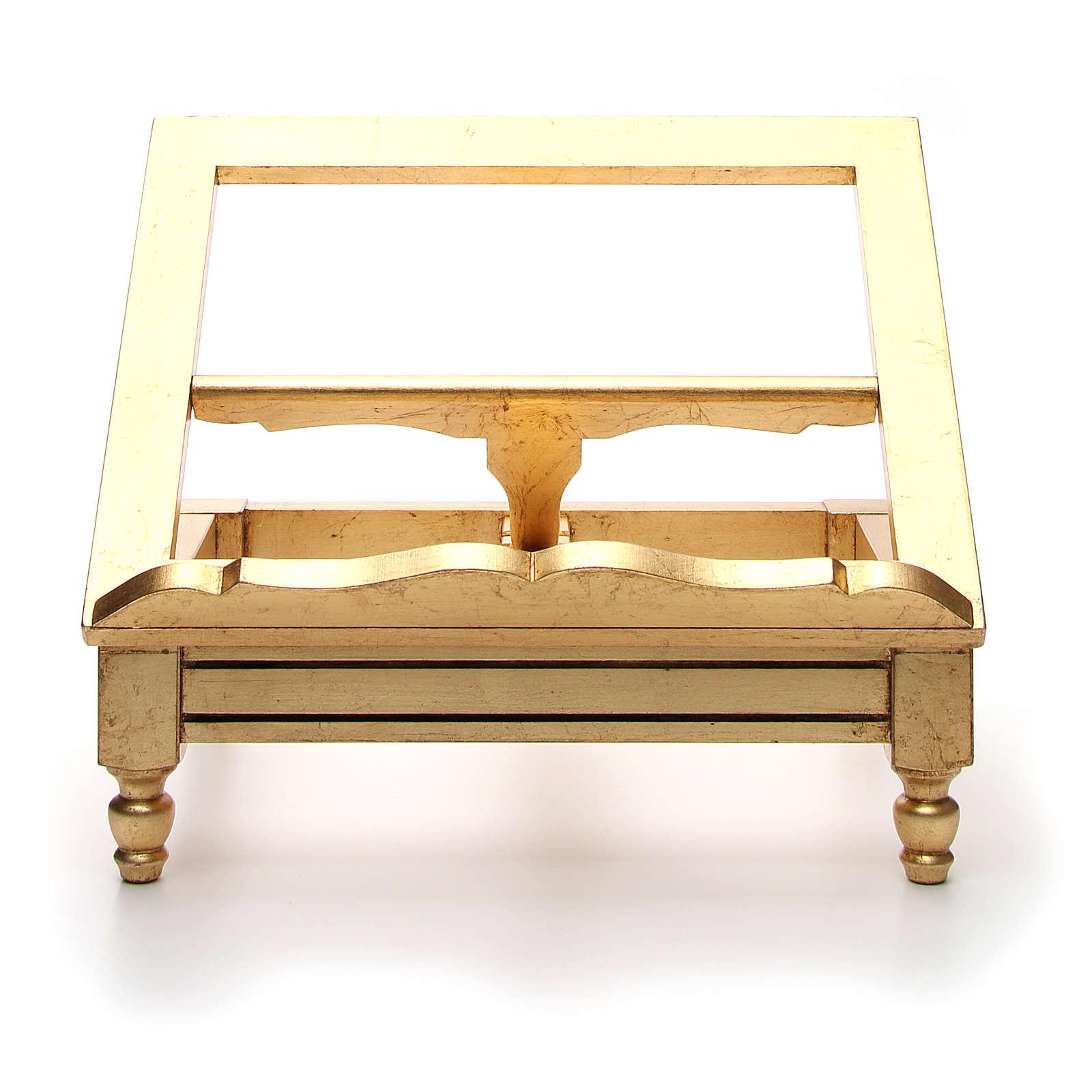 Leggio da tavolo foglia oro 4