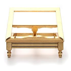 Leggio da tavolo foglia oro s6