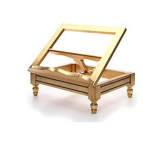 Leggio da tavolo foglia oro s7