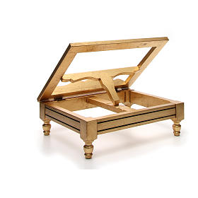 Leggio da tavolo foglia oro s8
