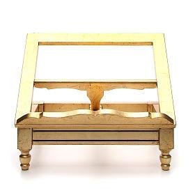 Leggio da tavolo foglia oro s1