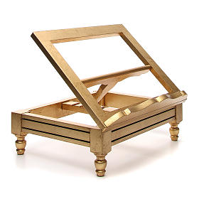 Leggio da tavolo foglia oro s4