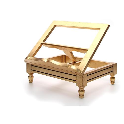 Leggio da tavolo foglia oro 7