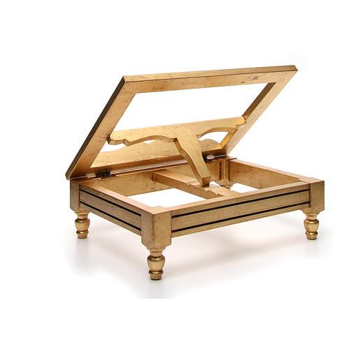 Leggio da tavolo foglia oro 8