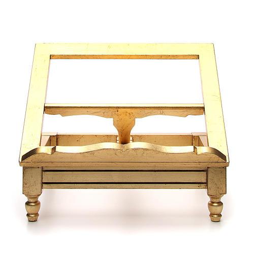 Leggio da tavolo foglia oro 1