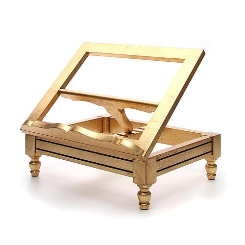 Leggio da tavolo foglia oro 2