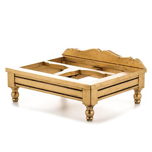 Leggio da tavolo foglia oro 5