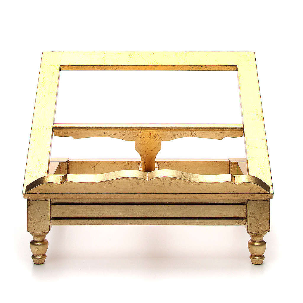 Estante de mesa folha ouro 4