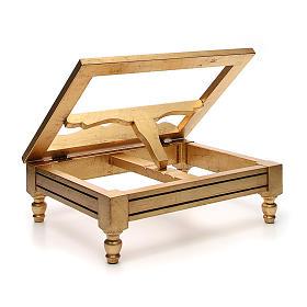 Estante de mesa folha ouro s3
