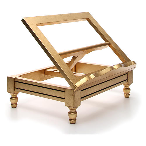 Estante de mesa folha ouro 9