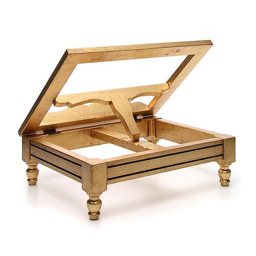Estante de mesa folha ouro 3