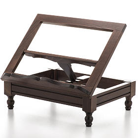 STOCK Book stand in dark wood s1