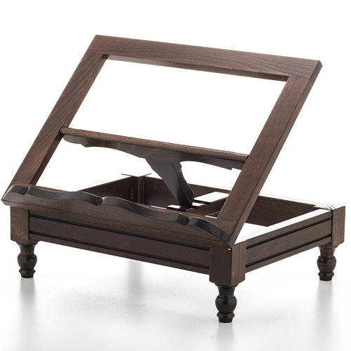 STOCK Book stand in dark wood 1