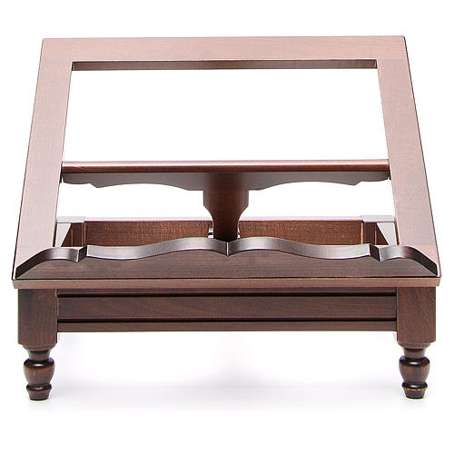 STOCK Book stand in dark wood 2