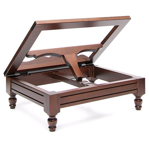 STOCK Book stand in dark wood 6