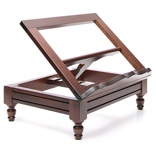STOCK Book stand in dark wood 8