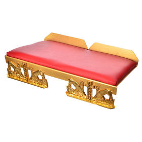 Atril de mesa latón dorado con cojín ciervos a la fuente s5