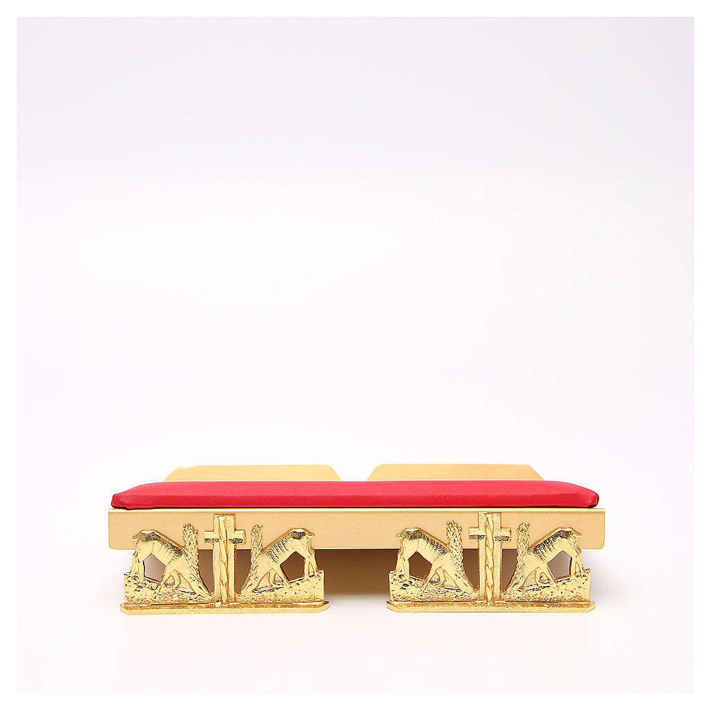 Pupitre d'autel doré coussin laiton cerfs à la source 4