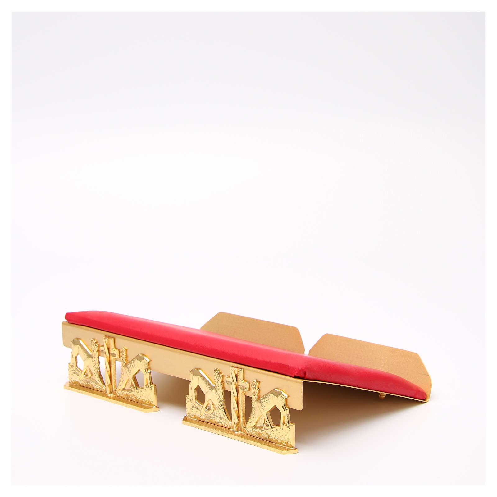 Leggio da mensa dorato cuscinetto ottone cervi alla fonte 4